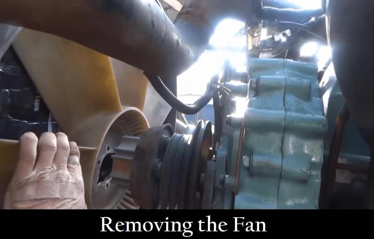 Removing the Fan to perform truck repairs