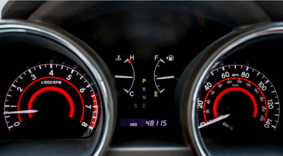 a vehicle dashboard