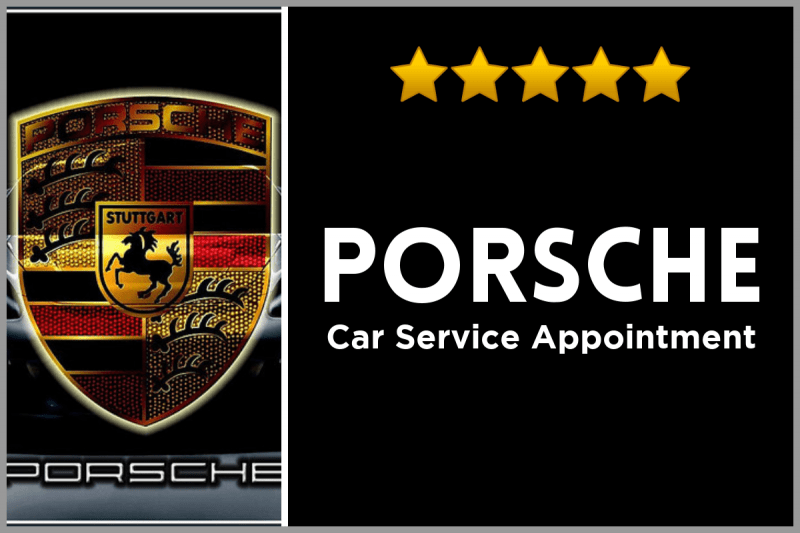 Porsche Logo - the city of Stuttgart's coat of arms with a black horse in the middle