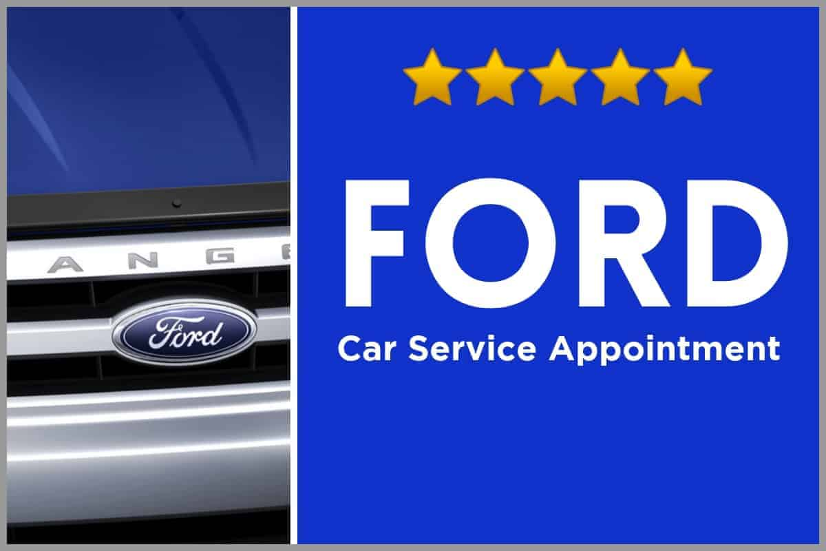 Booking a car service with automobile manufacturer Ford