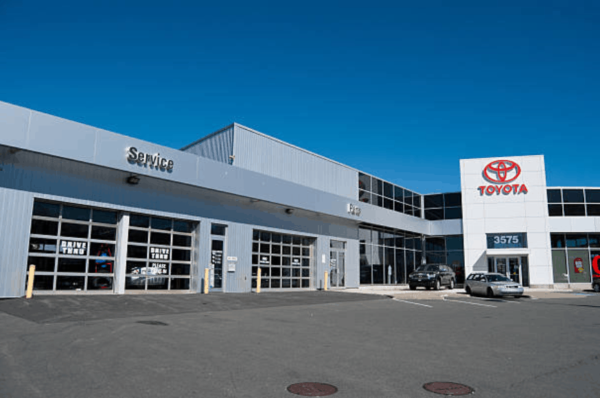 Toyota service station building