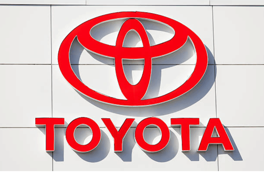 The color red Toyota's symbol.