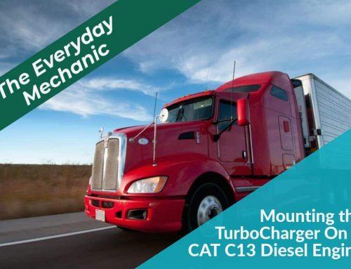 CAT C13 Diesel Engine Truck Repair – Mounting the Turbocharger