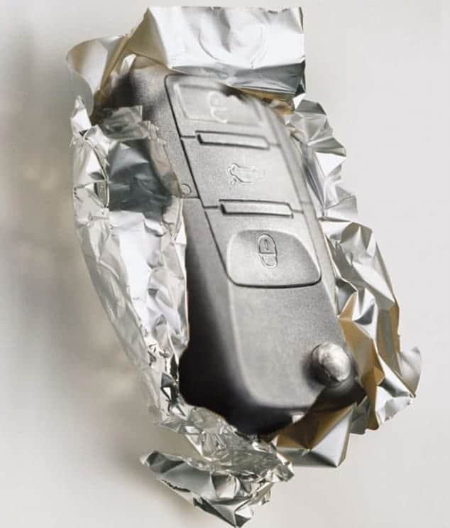 Keyless Entry Device Wrapped with Tinfoil
